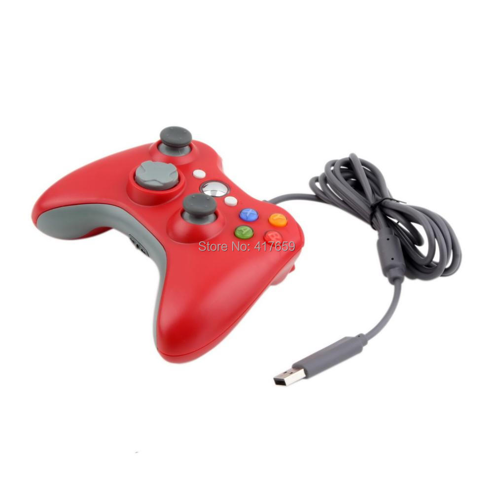 1pc USB Wired Controller For XBOX 360 Wireled Red Color Joystick For Microsoft XBOX360 Game Controller(China (Mainland))