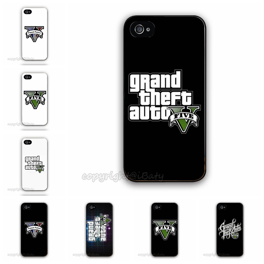 2015 Hot Selling Grand Theft Auto GTA 5 Case For Apple iPhone 4 4G 4S Mobile Phone Cover GTA Five Custom Design(China (Mainland))