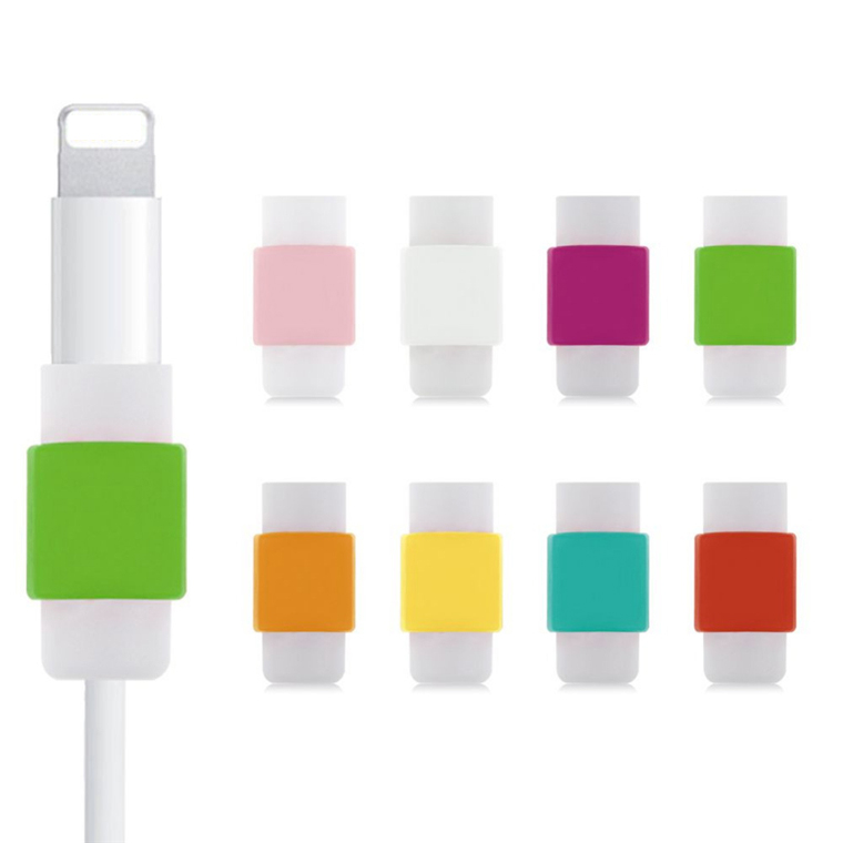 10PCS New fashion colorful USB Data Cable Line Earphone Protector Anti-Breaking Protective Sleeve For iPhone 5/5s 6/6s Android(China (Mainland))