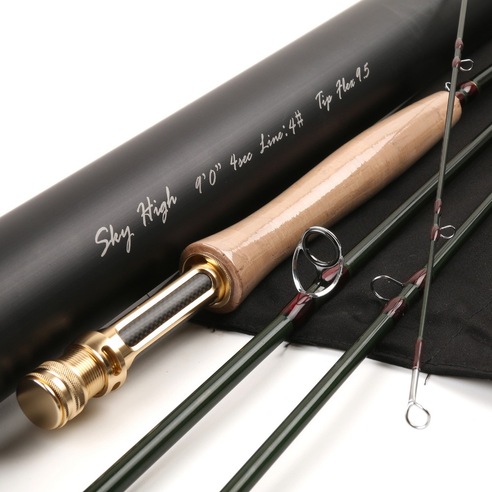 IM12(40+46T) Toray Carbon Fishing Rod 9FT 4WT 4PCS Half-well Fast Action With Aluminium Tube Fly Rod(China (Mainland))
