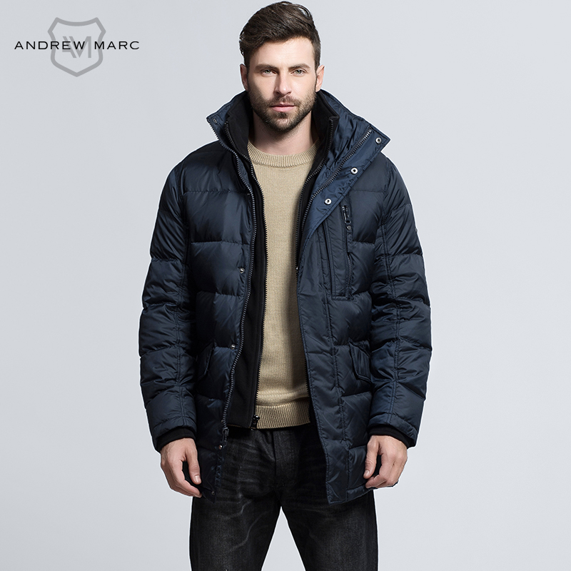 ANDREW MARC 2016 New Fashion Men Duck Down Coat Autumn Winter Big Brand Outwear Coats Snow Parkas TM6UD211(China (Mainland))