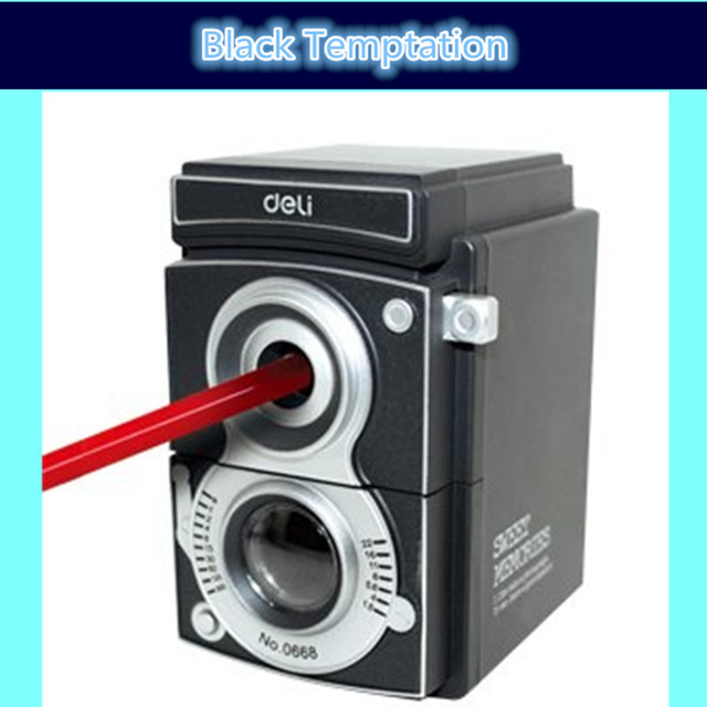 Free shipping pencil sharpener deli 0668 Light and shadow adjustable thickness hand roll pencil sharpeners
