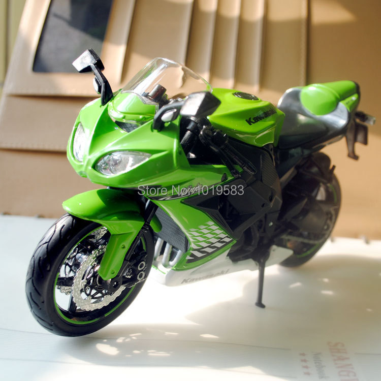 Free Shipping (5pcs/pack) Wholesale 1/12 Scale Diecast Motorcycle Toys Kawasaki Ninja ZX-10R Green Metal Motorbike Model Toy(China (Mainland))