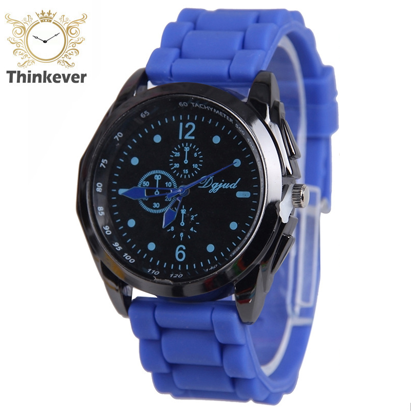 High Quality Unisex Sillicone Watch Fashion Women Slim Three Eyes Analog Quartz wrist watch Male Casual Sports Watches C0287(China (Mainland))