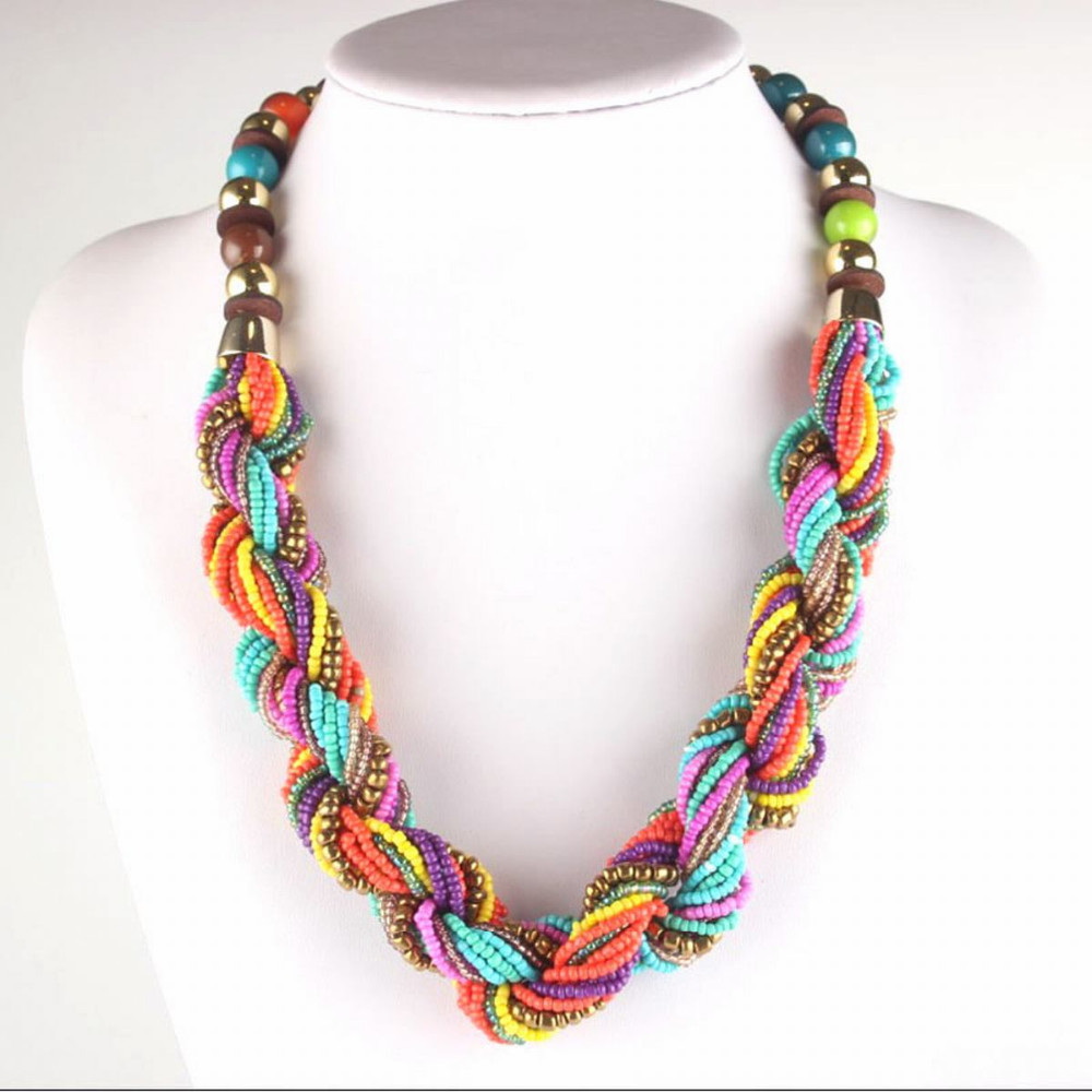 handmade small strand twisted summer colorful