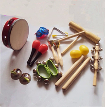 Orff Infant instruments kits children toy musical instruments 11styles per set(China (Mainland))