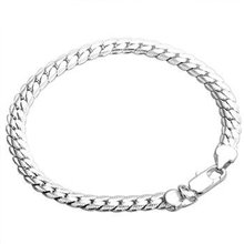 Free shipping,925 silver jewelry Bracelet ,5M sideways bracelets, fashion jewelry Bracelet wholesale price! S034(China (Mainland))