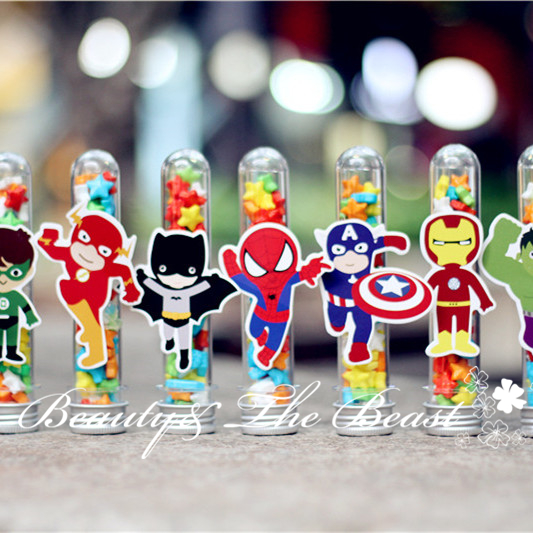 Superhero Avengers Candy Box Gift Box candy bar Dessert Party Supplies Birthday Party Decorations Kids baby shower Cake table(China (Mainland))