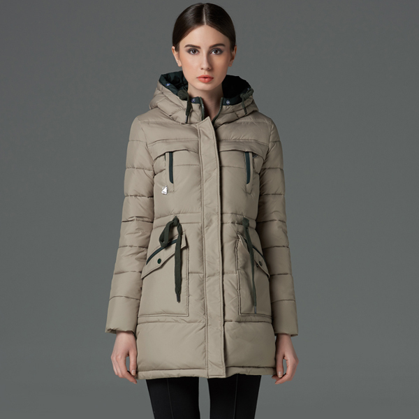 Ms icebear2015 new winter long thickening warm specials cotton padded clothes coat nut have big yards
