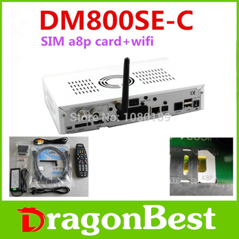 1pcs/lot dm800se-c a8p sunray800se-c sun800hd se-c a8p sim wifi original dvb-c sintonizador receptor de satelite digital free sh(China (Mainland))
