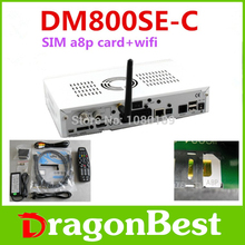 1pcs/lot dm800se-c a8p sunray800se-c sun800hd se-c a8p sim wifi original dvb-c sintonizador receptor de satelite digital free sh