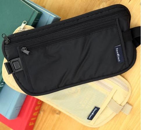 Travel Storage Bag Money Security Purse Waist Pack PurseMoney Coin Cards Passport Waist Belt Tickets Bag Pouch(China (Mainland))