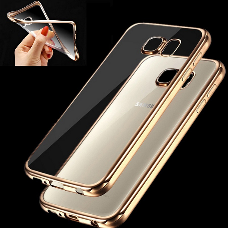 For Samsung S7 Edge Royal Luxury style Plating Gilded TPU Phone Case For Samsung Galaxy S7 edge silicone soft Back Case Cover(China (Mainland))