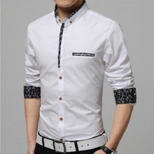 Buy 2017 New Spring Men Shirts Casual Slim Fit Long Sleeve Shirt Male designer Print Camisa Brand Dress Shirt Big Size M~5XL for $13.99 in AliExpress store