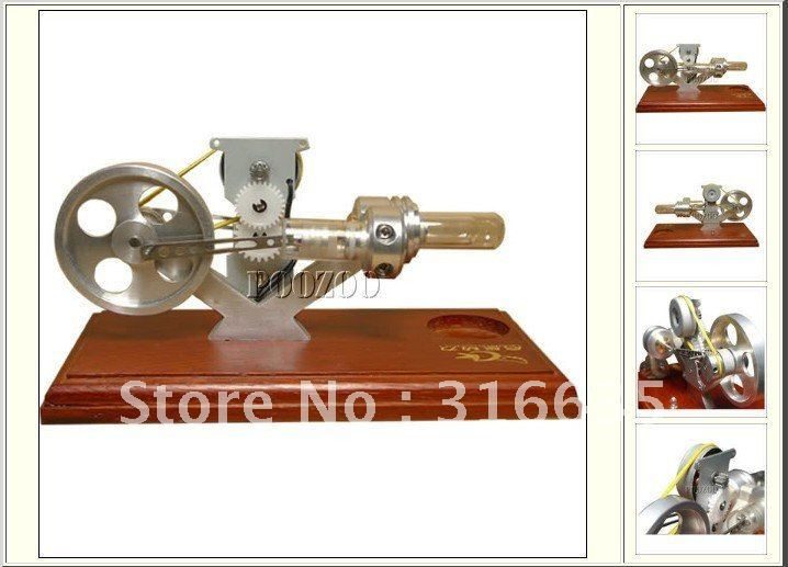 2012 the most novel BRAND NEW STIRLING ENGINE POWER ELECTRICITY GENERATOR WITH LED LIGHT TOY(China (Mainland))
