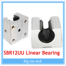 12PCS SBR12UU SBR12 Linear Bearing 12mm Open Linear Bearing Slide block 12mm CNC parts linear slide