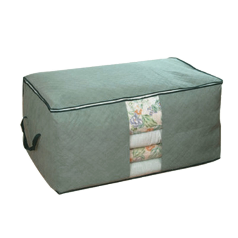 New Bamboo charcoal clothing storage box Quilt storage case Bedding organizer Non-wooven bag best deal 1pcs(China (Mainland))