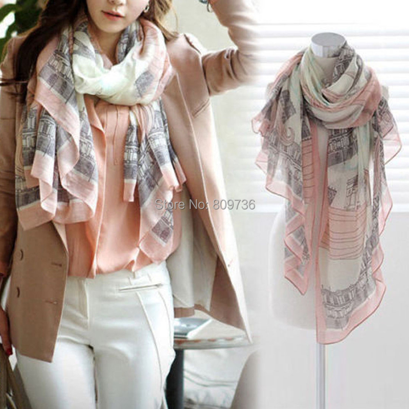 1PC New Fashion Women's Vintage Lady Soft Long Neck Large Scarf Wrap Shawl Pashmina Stole Drop Free(China (Mainland))