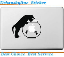 Cat and Fish Tank Sticker for Macbook Air 11 13 Vinyl Decal for Apple Mac Pro 13 15 Retina Laptop Computer Creative Skin(China (Mainland))