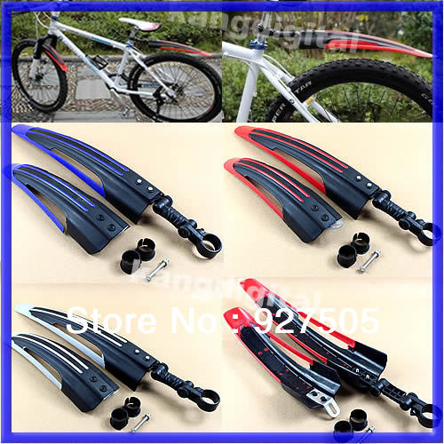 B39 Free shipping Bicycle Cycling Road Front Rear Mud Guard Mudguard Set Mountain Bike Tire 3Colors For your Choose(China (Mainland))