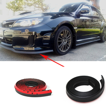 1.77in*89in  Universal rubber Auto styling accessories front bumper lip spoiler apron For audi A3 A4 A5 S7 Q5 Q7(China (Mainland))