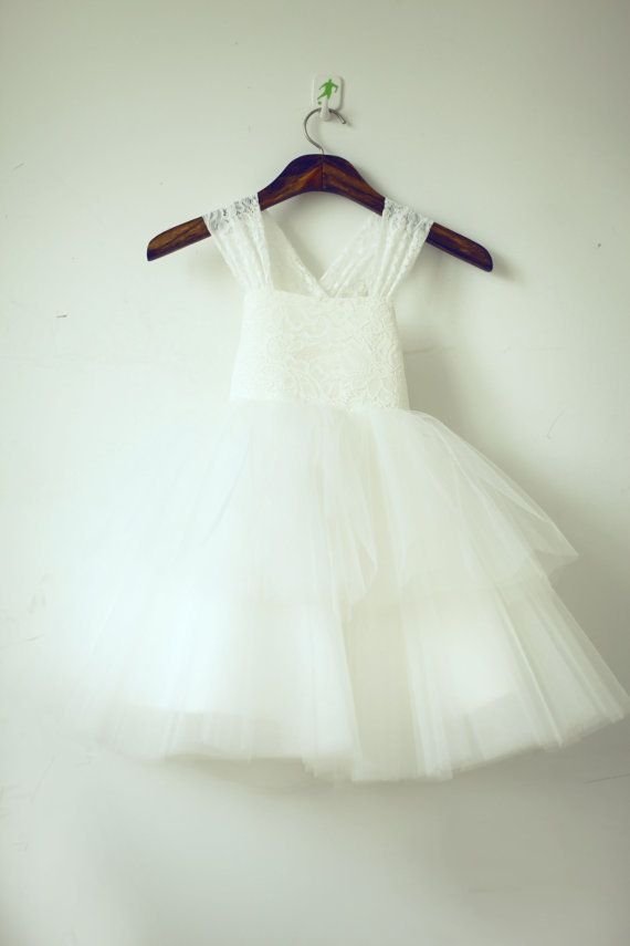Romantic Vintage Lace Tulle Flower Girls Dress size 12 Children girls frocks Easter Bridesmaid Holy Communion Baptism Dresses(China (Mainland))