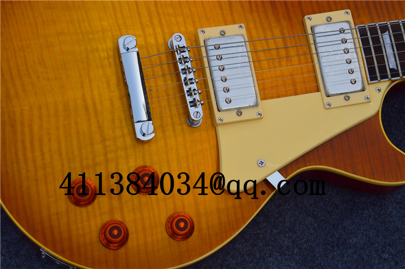 new store opening! Free Shipping New Guitar, Electric Guitar, LP Custom Shop OEM, China, Smoke color,(China (Mainland))