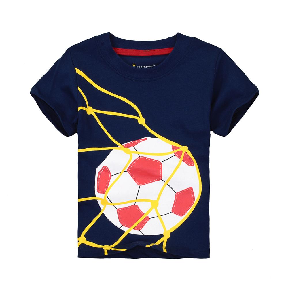 Boys' Short Sleeve T-shirts Baby Summer Costume Little Children Boy Shirts Navy Blue Football T-shirt 1-6 Years Kid Boy T-shirts(China (Mainland))