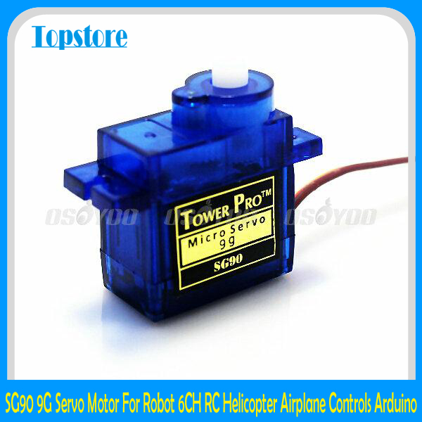 Wholesale SG90 9G Micro Servo Motor For Robot 6CH RC Helicopter Airplane Controls for Arduino Free Shipping & Drop Shipping(China (Mainland))
