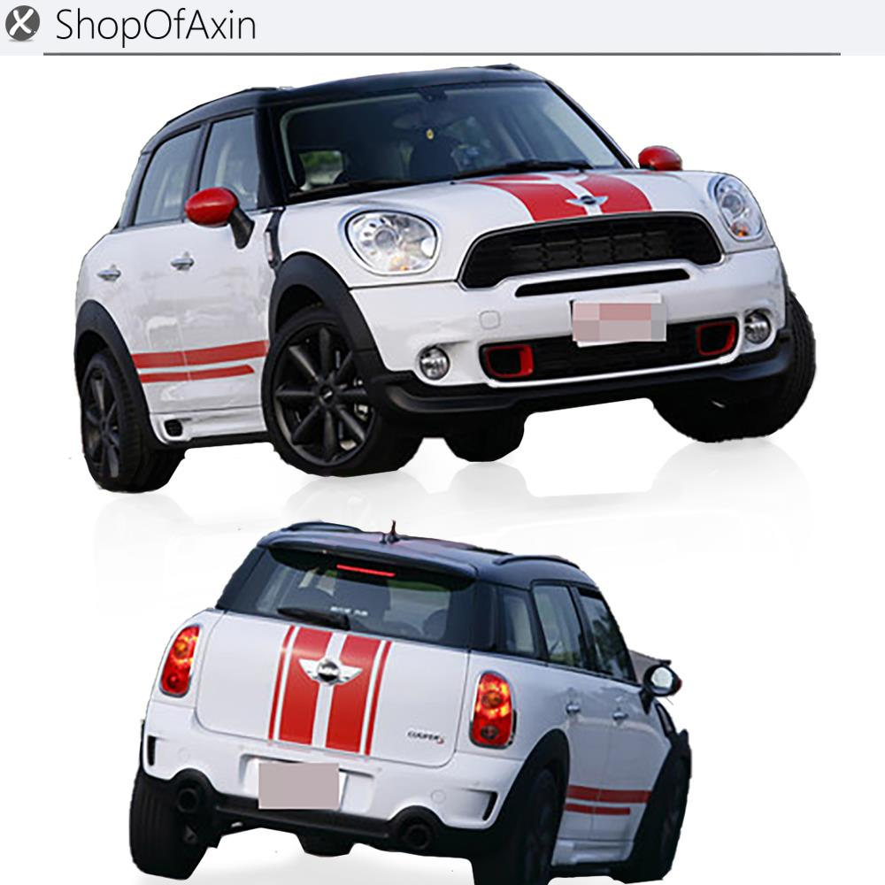Car sticker design shop - Car Hood Luggage Trunk Rokcer Panel Decoration Sticker For Mini Cooper Countryman R60