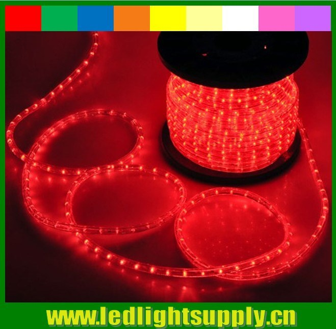 2 wire red rope light