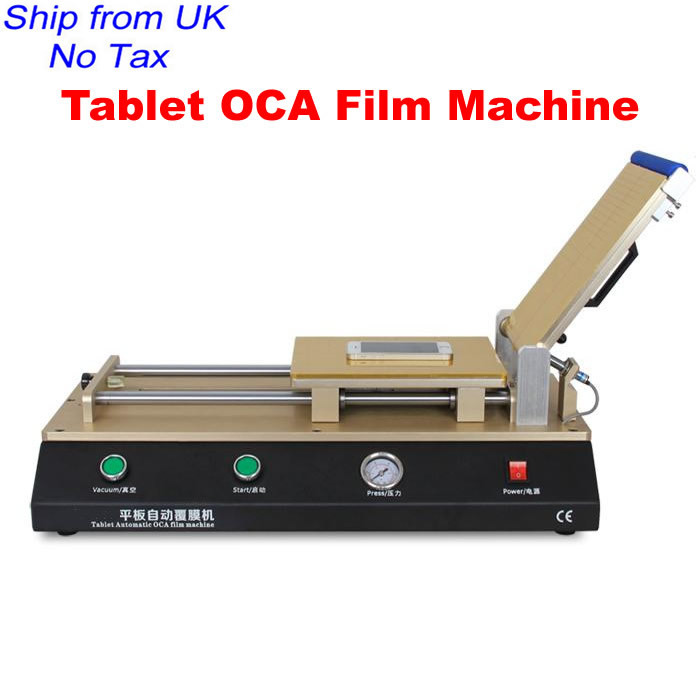 LY 975 semi-auto OCA tablet film lamination machine build-in pump vacuum for below 14 inch screens from UK no tax(China (Mainland))