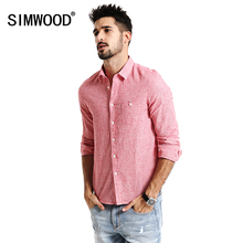Buy SIMWOOD 2017 New Spring long Sleeve Casual Shirts Men Cotton Linen Fabric Slim Fit red Plaid CS1600 for $26.01 in AliExpress store