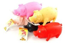 Large Middle Small  Decompression Screaming Pig  Funny Toy Interesting Gifts For Children Kids Adult Trick-Playing Anger Let Off(China (Mainland))