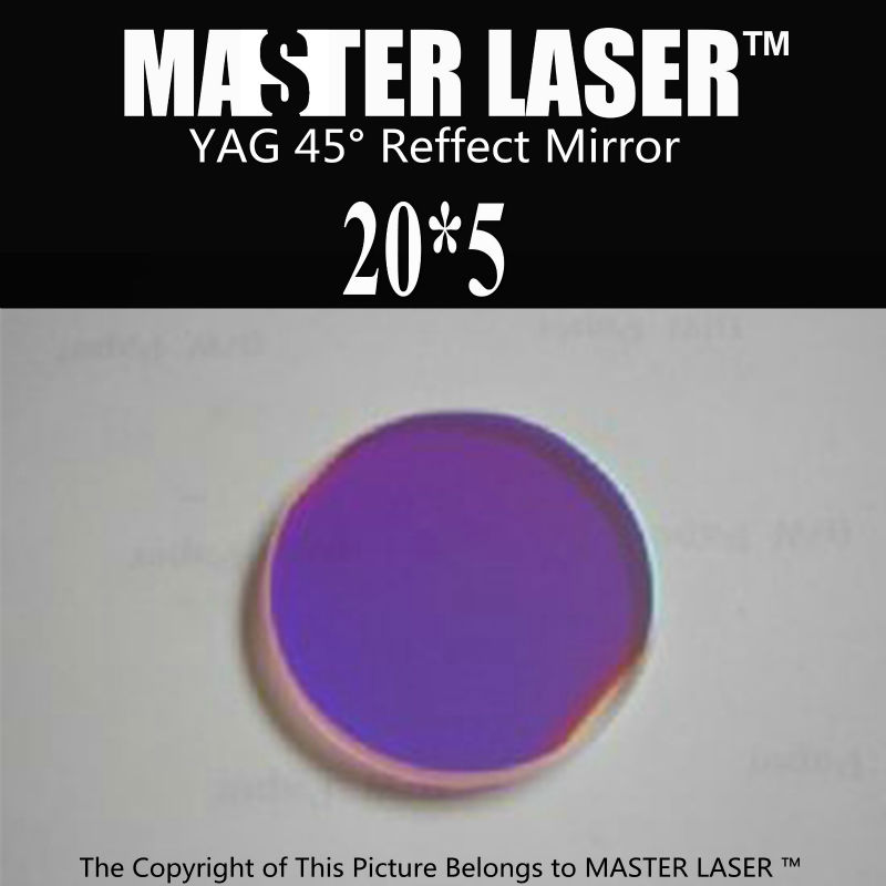 Dia 20mm Thickness 5mm YAG Laser Cutting Machine 45 Degree Reflect Mirror Laser Optical Reflector(China (Mainland))
