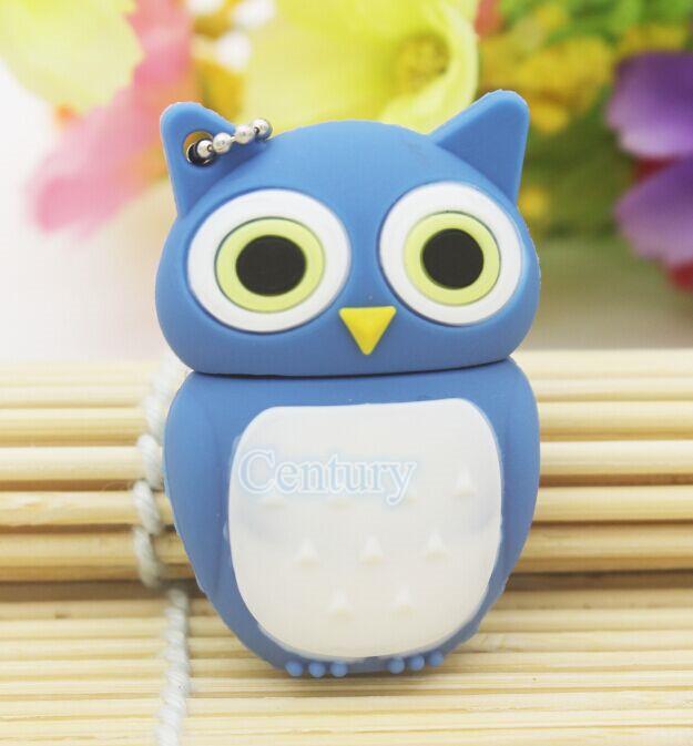 Wholesale bird U Disk Genuine Cartoon 3 colors Owl Model pendrive 4GB/8GB/16GB/32GB USB 2.0 Memory Stick Pen Thumb/Drive/Gifts(China (Mainland))