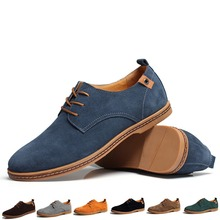NEW 2015 Suede European style genuine leather Shoes Men's oxfords california casual Loafers, sneakers for Men Flats shoes,38-48(China (Mainland))