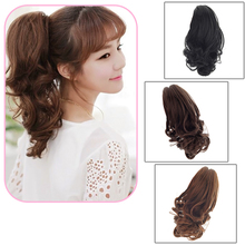 Claw Pony tail Ponytail Clip In On Hair Extension Curly Style Hairpiece #L04722(China (Mainland))
