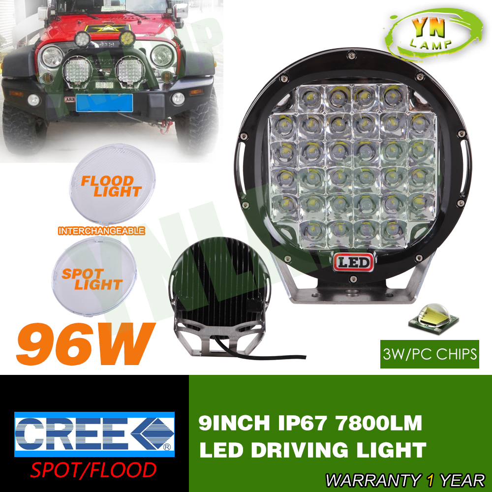 cree led driving light 96w 9inch round offroad  led light for jeep  truck use 7800LM