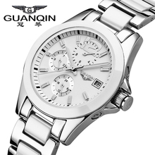 Original GUANQIN Watches Women Automatic Mechanical Top Brand Luxury Sapphire Fashion Woman Watches white ceramic watch