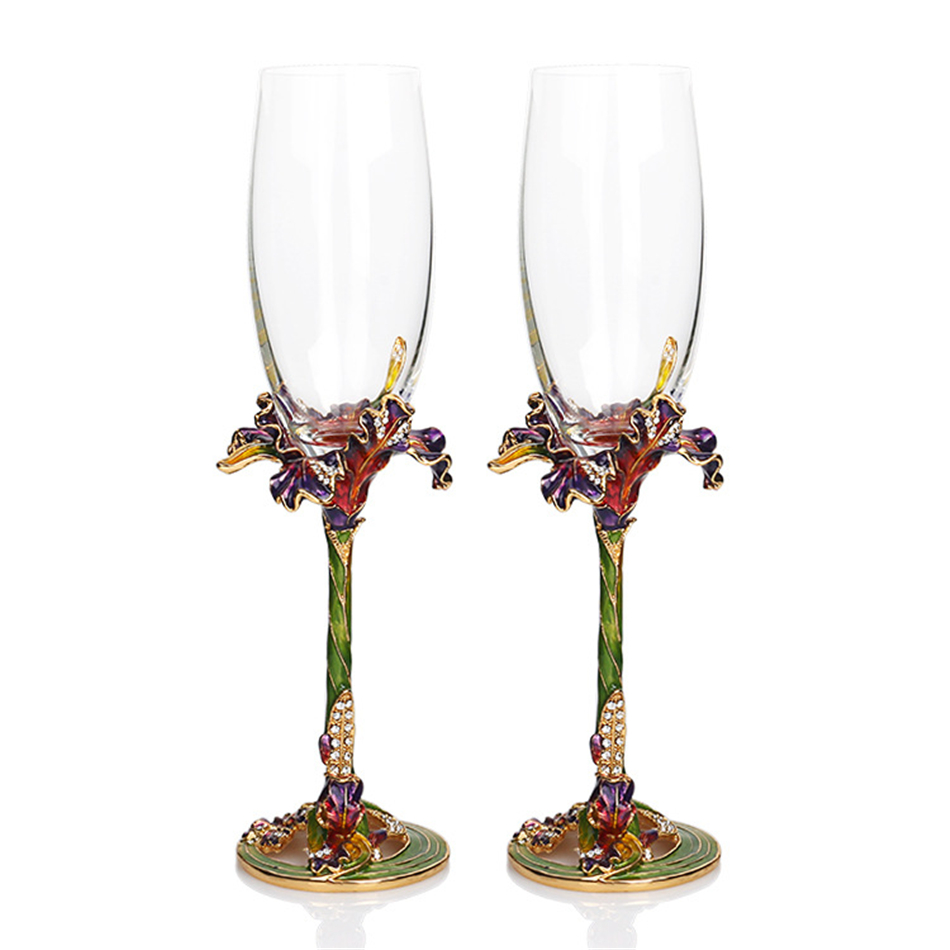 HTB17SccPpXXXXXwXFXXq6xXFXXXp - KEYTREND High-grade Crystal Champagne Flutes Stand Metal with Enamel Creative Style Goblet Glass Wedding Birthday Gifts AECL029
