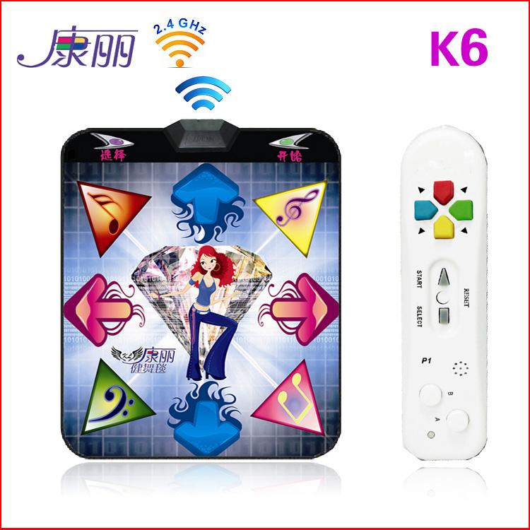 Kangli k6 wireless sports game machine computer tv dual wireless controller thick 35mm dance mat tv game console(China (Mainland))