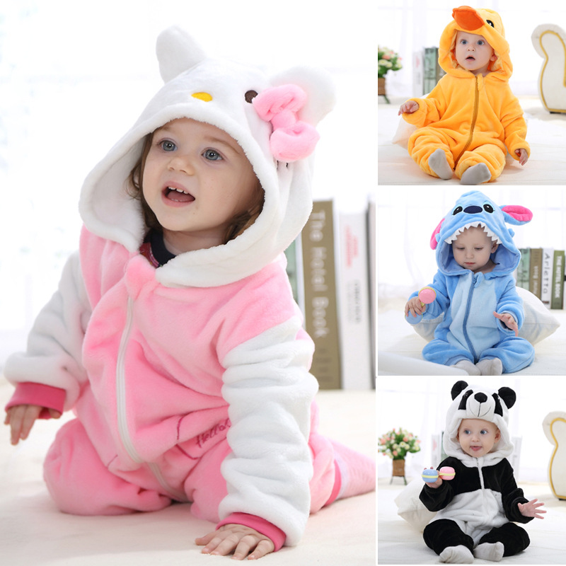 long sleeve winter baby clothes one piece kid bodysuit newborn boys girl clothing infant apparel(China (Mainland))