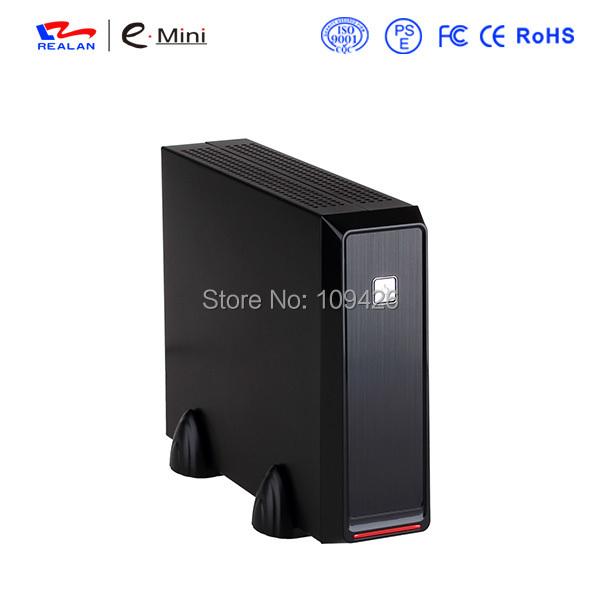 Realan Emini - 2019, Silver Mini-ITX Box With 4010 Fan And 12V 5A AC Power Adapter, Mini PC Case(China (Mainland))