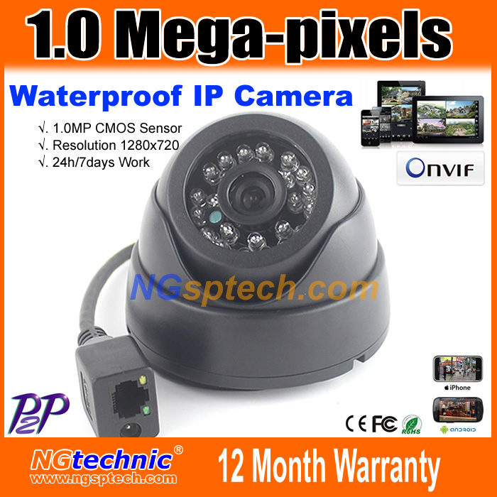 Waterproof 1.0MP HD Wired IP Camera 720P outdoor onvif cctv camera IR Night vision home security surveillance Support IE browse(China (Mainland))