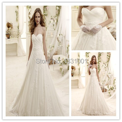 2016 Sexy Backless Wedding Dresses A Line Country Style Bridal Dress Withe Size Chart Vestido Noiva Casamento Plus Size Gowns(China (Mainland))