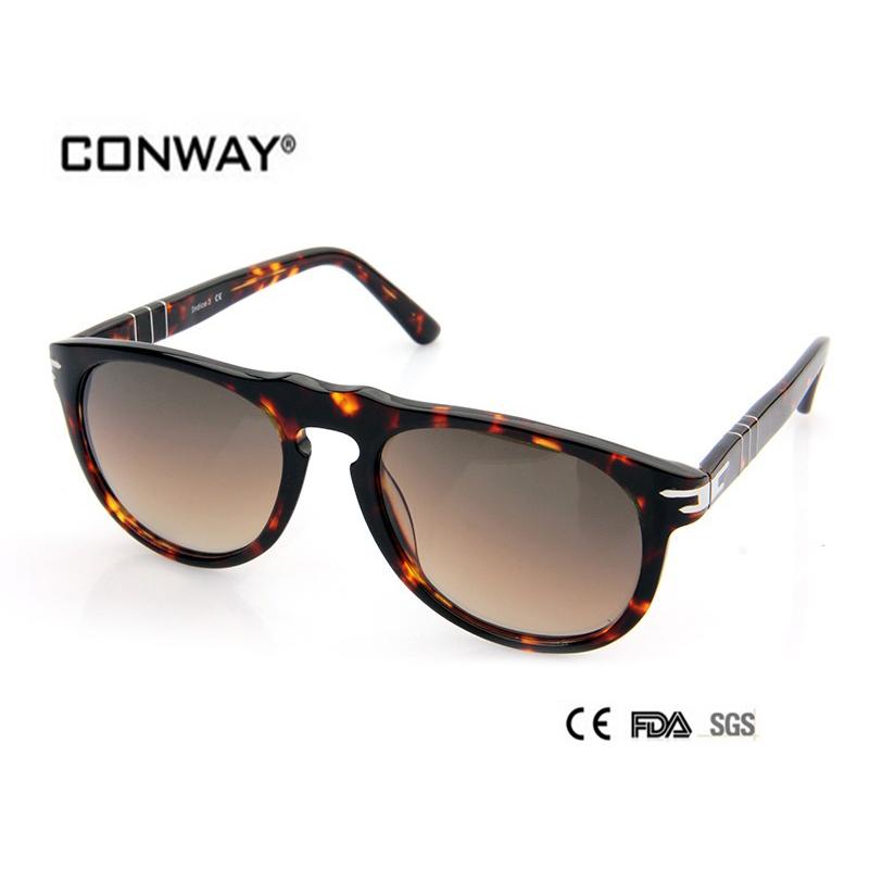 2016 Fashion Acetate Sunglasses Brand Designer Sun Glasses Men Design ladies sunglasses outdoor deal with CN0001S-DEMI-BROWN(China (Mainland))