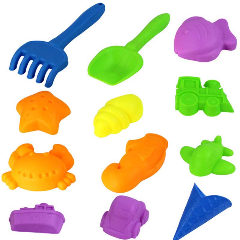 12Pieces/Set Baby Space Sand Mold Colored Sand Tools Moulds Children Super Toy Model Kids Sand Clay DIY Educational Toys(China (Mainland))