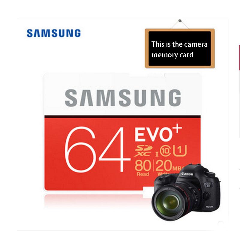 100% Original Samsung EVO+16GB/32GB/64GB SD Card Class10 Flash Memory Card Max up 80MB/s High Speed Camera SD Cards Camcorder(China (Mainland))