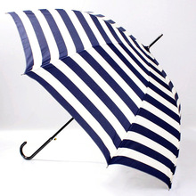 Spot 4 color Navy grain long handle Super light 300g umbrella small fresh Princess stripes automatic women umbrella(China (Mainland))